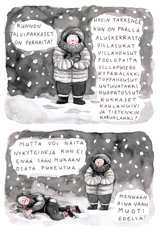 talvivarustelua